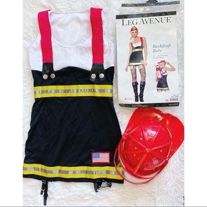 Halloween Costume Backdraft Babe Firefighter